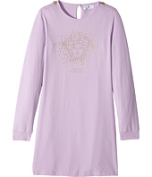 Versace Kids - Long Sleeve Dress w/ Embellished Medusa On Front (Big Kids)