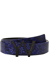 Versace Kids - 'YV' Buckle Belt w/ Barocco Design (Big Kids)