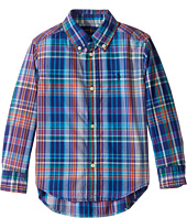 Polo Ralph Lauren Kids - Plaid Cotton Poplin Top (Toddler)