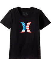 Hurley Kids - Icon Flag Fill Short Sleeve Tee (Little Kids)
