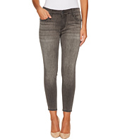 KUT from the Kloth - Petite Donna High-Rise Ankle Skinny in Meritorious w/ Grey Base Wash