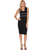 Calvin Klein - U-Neck with Piping Detail Sheath Dress CD7C12AV