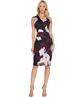 Calvin Klein - V-Neck Floral Sheath Dress CD7M38AV
