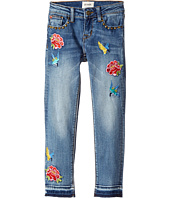 Hudson Kids - Freebird Girlfriend Ankle Jeans w/ Embroidery Patches and Studs in Hippie Heaven (Big Kids)