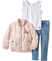 Hudson Kids - Three-Piece Puffer Jacket Slub Jersey Top Stretch Denim (Infant)