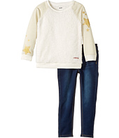 Hudson Kids - Two-Piece Stripe w/ Sherpa Stretch Denim Pants (Toddler)