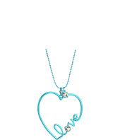 Betsey Johnson - Blue and Crystal Heart Pendant Necklace