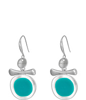 Robert Lee Morris - Silver and Teal Enamel Earrings