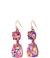 Betsey Johnson - Double Drop Pink Earrings