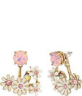 Betsey Johnson - Flower Cluster Earrings Jacket