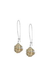 Robert Lee Morris - Two-Tone Wire Wrap Drop Earrings