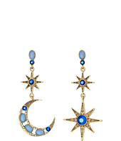 Betsey Johnson - Moon and Star Drop Earrings