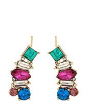 Betsey Johnson - Multicolor Stone Earrings Crawler