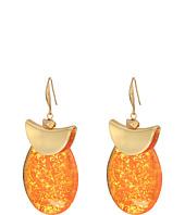 Robert Lee Morris - Silver and Amber Drop Earrings