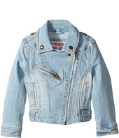 Urban Republic Kids - Light Wash Moto with Rhinestone Detail (Toddler)