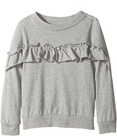 Hudson Kids - Heather Pullover Ruffle Sweatshirt (Toddler/Little Kids)