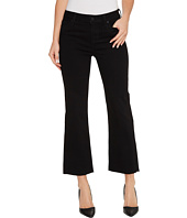 Liverpool - Hannah Cropped Flare Raw Hem in the Perfect Black Denim in Black Rinse