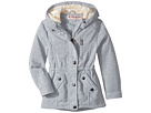 Long Silhouette Fleece Anorak with Pile in Hood (Little Kids/Big Kids)