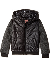 Urban Republic Kids - Puffer Jacket with Melange Sleeves (Little Kids/Big Kids)