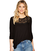 Lucky Brand - Lace Collar Thermal Top
