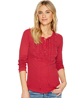 Lucky Brand - Lace-Up Bib Thermal Top