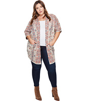 Lucky Brand - Plus Size Diamond Pattern Cardigan
