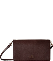 COACH - Polished Pebbled Leather Fold-Over Crossbody