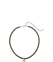 Lucky Brand - Evil Eye Leather Choker Necklace