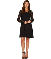 Karen Kane - Scallop Lace Contrast Dress
