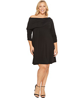 Karen Kane Plus - Plus Size Drape Boat Neck Dress
