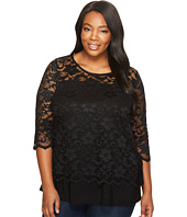 Karen Kane Plus - Plus Size Lace Side Tie Top