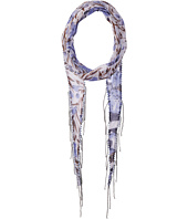 Chan Luu - Chiffon Floral Print Long Skinny Scarf