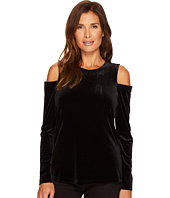Calvin Klein - Long Sleeve Cold Shoulder Velvet Top