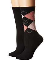 HUE - Argyle Boot Socks 2-Pack