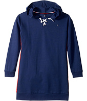 Tommy Hilfiger Kids - Lace-Up Sweatshirt Dress (Big Kids)