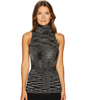 M Missoni - Spacedye Turtleneck Top w/ Tie