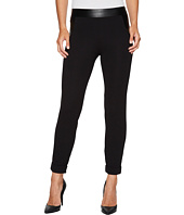 HUE - Leatherette Trim Cropped Cuffed Leggings