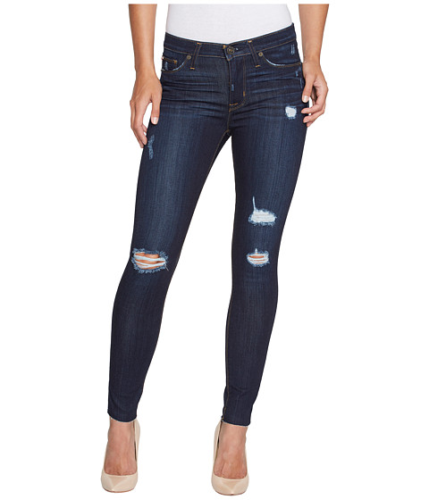 Hudson Nico Ankle Raw Rem with Destruction Mid-Rise Skinny in Kismet