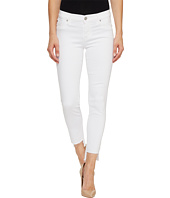 Hudson - Colette Mid-Rise Skinny with Raw Step Hem in White