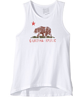 The Original Retro Brand Kids - California Bear Vintage Cotton Tank Top (Big Kids)