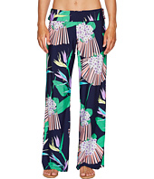 Trina Turk - Midnight Paradise Roll Top Wide Leg Pant Cover-Up