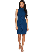 Adrianna Papell - Petite Knit Crepe Mock Neck Sheath Dress