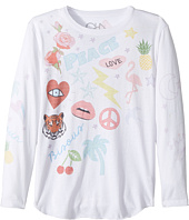 Chaser Kids - Vintage Jersey Long Sleeve Shirttail (Little Kids/Big Kids)