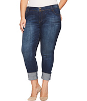 KUT from the Kloth - Plus Size Cameron Straight Leg Jeans in Supple w/ Dark Stone Base Wash