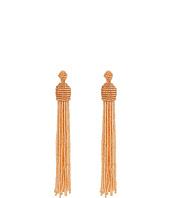 Kenneth Jay Lane - Champagne Bead Tassel Direct Post Ear Earrings