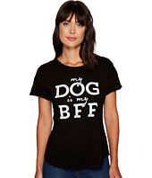 The Original Retro Brand - My Dog Is My BFF Rolled Short Sleeve Crew Neck Tee