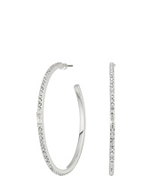 LAUREN Ralph Lauren - Pave & Baguette Stone Hoop Earrings