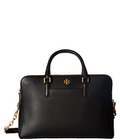 Tory Burch - Georgia Pebbled Double-Zip Satchel
