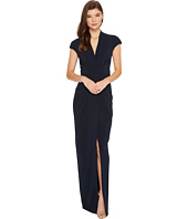 Badgley Mischka - Cap Sleeve Crepe Dress