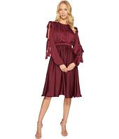 CATHERINE Catherine Malandrino - Long Slit Sleeve Pleated Midi Dress